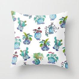 All Plant Bois Throw Pillow