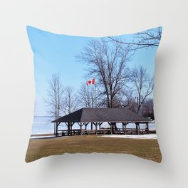 Shelter by the Lake Throw Pillow