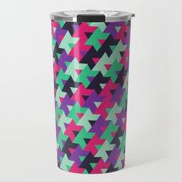 Black Pink Purple Teal Travel Mug