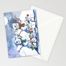 It's Snowing Cats and Dogs (and Mice too) Stationery Cards