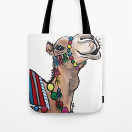 Cute Camel Art, Camel with Tassels Tote Bag