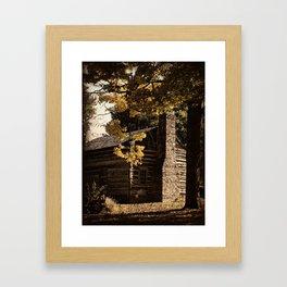 Log Cabin in Autumn Framed Art Print