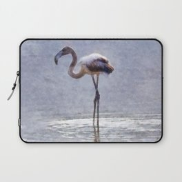 Flamingo Ripples and Reflections Watercolor Laptop Sleeve