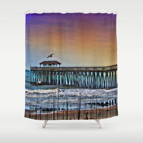 Myrtle Beach State Park Pier - Photo as Digital Paint ...