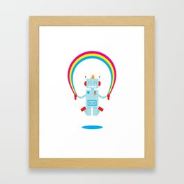 Skipping a Rainbow Framed Art Print