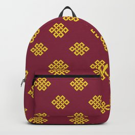 Eternity knot, endless knot pattern Backpack