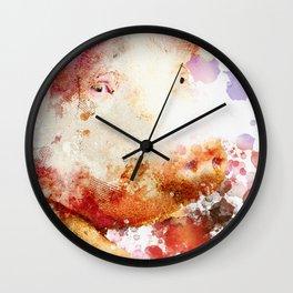 Watercolor Pig, Pig Painting, Pig Decor, Pig Art, Pigs Design Wall Clock