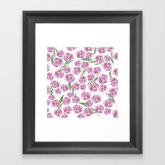 pink posies Framed Art Print