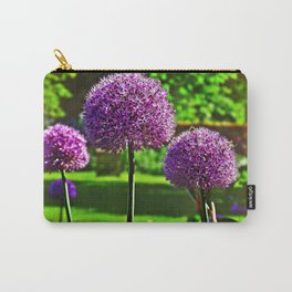 Purple Allium Spheres Carry-All Pouch