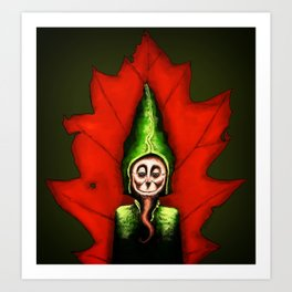 Leaf Gnome Art Print