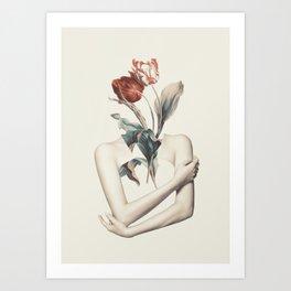 Inner beauty-collage Art Print