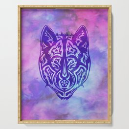 """""""Dire Wolf"""" Purple on Psychedelic Mist Serving Tray"""
