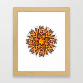 horrible insects mandala Framed Art Print