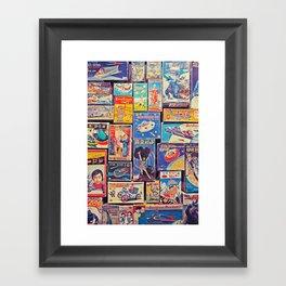 Toy Warp Framed Art Print