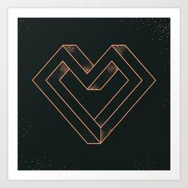 le coeur impossible (nº 6) Art Print