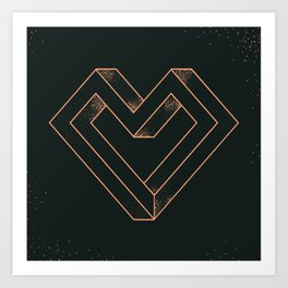 le coeur impossible (nº 6) Art Print