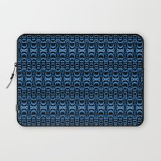 Dividers 07 in Blue over Black Laptop Sleeve