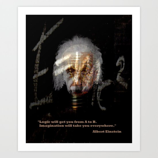 Albert Einstein - Imagination Art Print