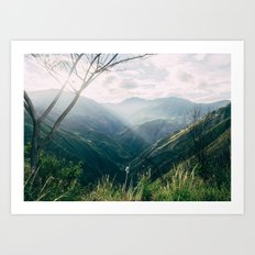 Light in the Mountains Art Print
