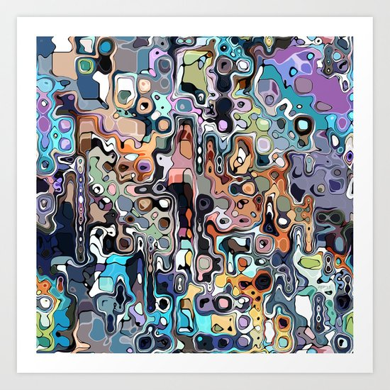 Abstract Digital Doodle 2 Art Print