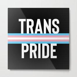 Trans Pride LGBT Transgender Transsexual Queer art Metal Print