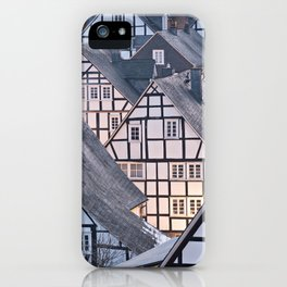 Historic half-timbered houses of Germany iPhone Case