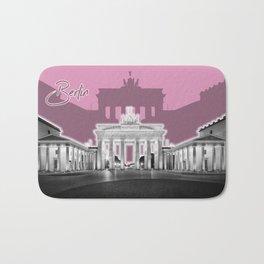 BERLIN Brandenburg Gate   Graphic Art   ink Bath Mat