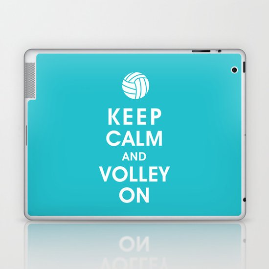 Keep Calm and Volley On (For the Love of Volley Ball) Laptop & iPad Skin