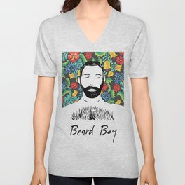 Beard Boy: Miguel Unisex V-Neck