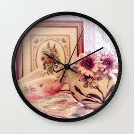 Tea and Daisies Wall Clock