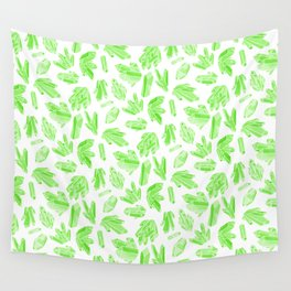 Crystals - Emerald Wall Tapestry