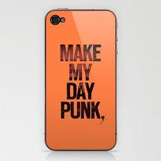Make my day punk iPhone & iPod Skin
