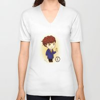 exo V-neck T-shirts featuring Pathcode EXO - Chanyeol by Minnie Dreamer