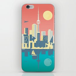 Toronto City Skyline Art Illustration iPhone Skin