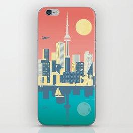 Toronto City Skyline Art Illustration iPhone Skin