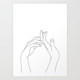 0891b49d8f60d One Line Art Prints | Society6