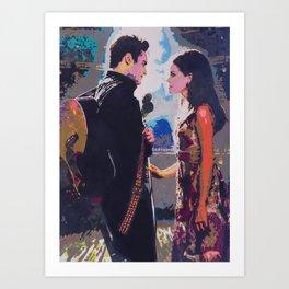 Johnny and June Art Print
