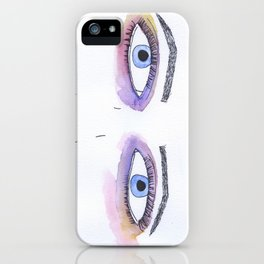 Two Black Eyes iPhone Case