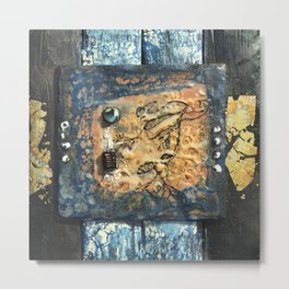 Nemesis - Mixed Media Beeswax Encaustic Abstract Modern Art, 2015 Metal Print