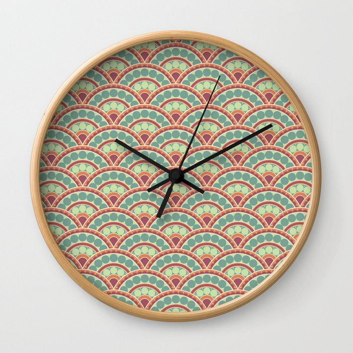 Peacock Tails Wall Clock
