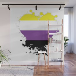 Enby Heart Wall Mural