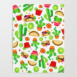 Fiesta Tacos Poster