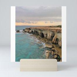 Sea Caves Coastline Cyprus Mini Art Print
