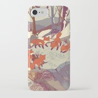 jazzberry blue iPhone & iPod Cases featuring Fisher Fox by Teagan White