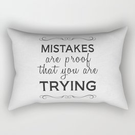 Mistakes Rectangular Pillow