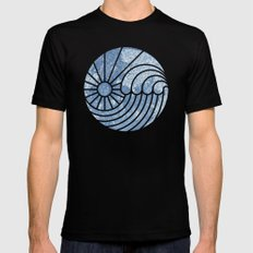 Sea of Serenity Mens Fitted Tee MEDIUM Black