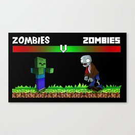 zombies v zombies Canvas Print