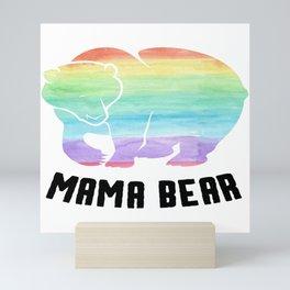 Mama Bear Gay Lesbian Homo CSD Gift Mini Art Print