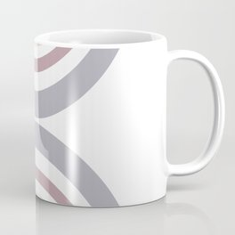Modern Double Rainbow Hourglass in Muted Earth Tones Coffee Mug