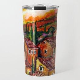 Tuscan Roofs Travel Mug